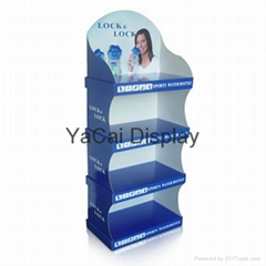 cup corrugated display shelf