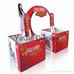pop pallet display, shampoo cardboard display stand, dumpbins display