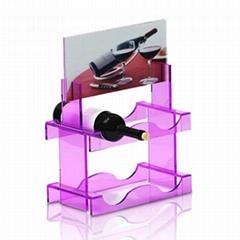 Acrylic wine rack, acrylic luminous,