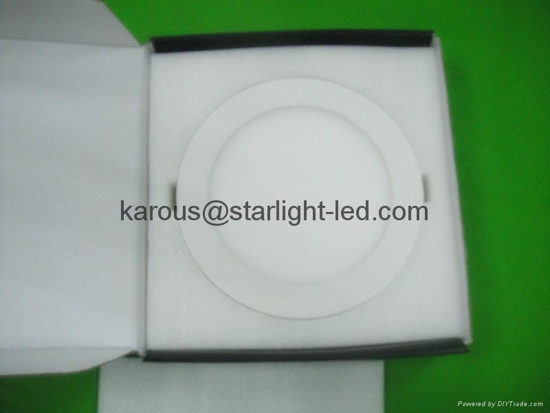 節能圓形七彩平板燈18w 2