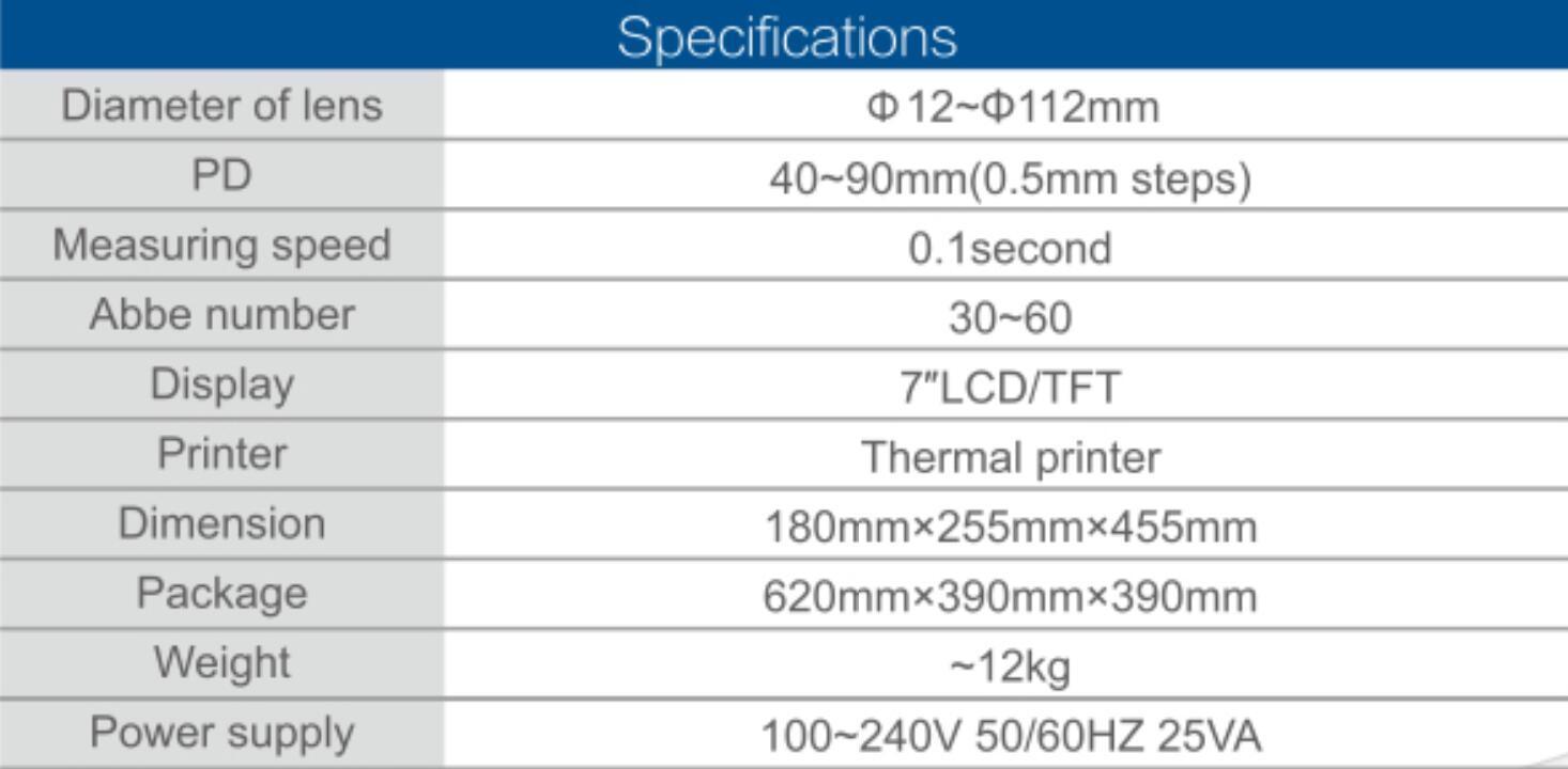 TW-8100 Auto Lensmeter 5
