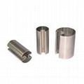 Stainless steel single slot round tube