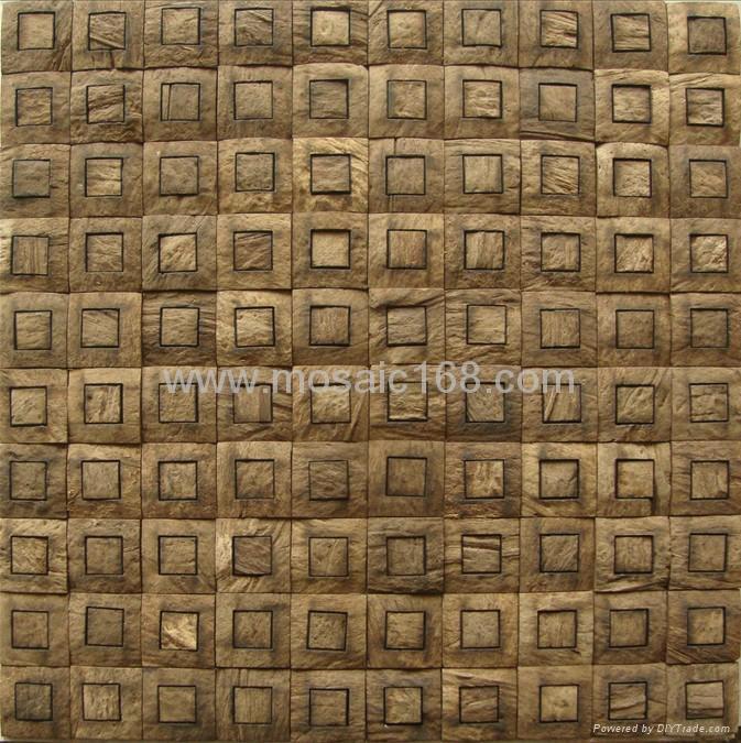 椰壳马赛克墙面板 1