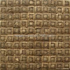 椰殼馬賽克牆面板