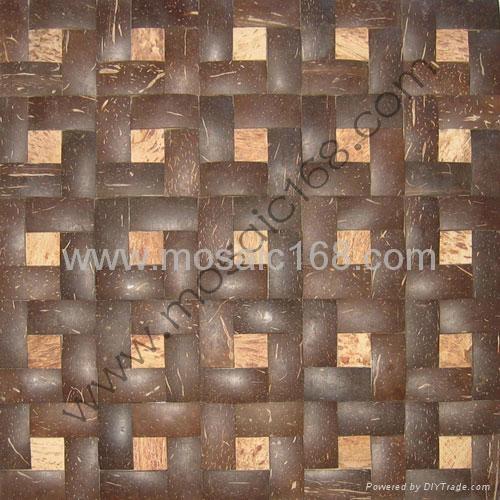 椰壳马赛克墙面板 2