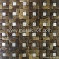 椰壳马赛克墙面板 3