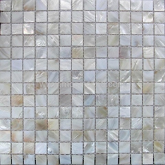 white color Shell mosic wall tile