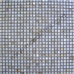 Mother of pearl mosaic square design
