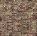 brick design shell mosaic mural