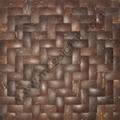 Coconut mosaic, wood wall mosaic
