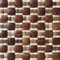 Coconut mosaic wood wall panel