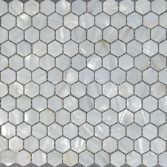 white color Shell mosaic wall paper