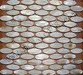 oval shape shell wall mosaic tile