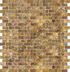 黃古銅色貝殼馬賽克貝母飾面板