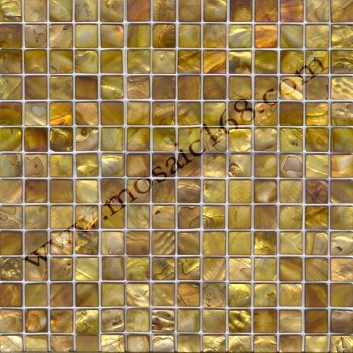 黄古铜色贝壳马赛克贝母饰面板 2