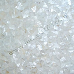 Polished mother of pearl wall mosaic tile