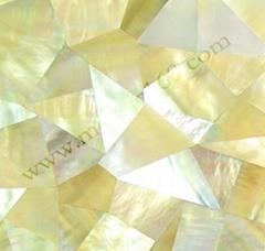 黄蝶贝裂纹拼装饰板