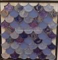 fan shape glass mosaic ceramic tile 1