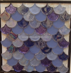 fan shape glass mosaic c