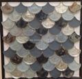fan shape glass mosaic ceramic tile 2