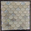 fan shape glass mosaic ceramic tile 3