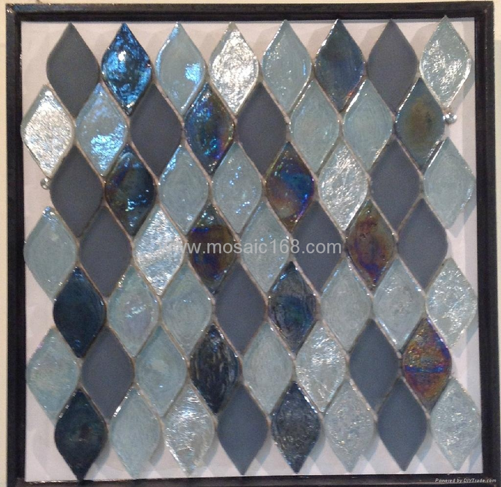 fan shape glass mosaic ceramic tile 4