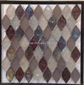 fan shape glass mosaic ceramic tile 5