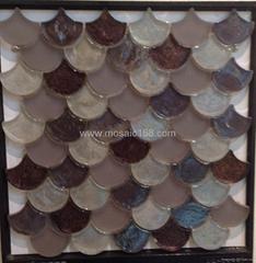 Art glass mosaic fan design