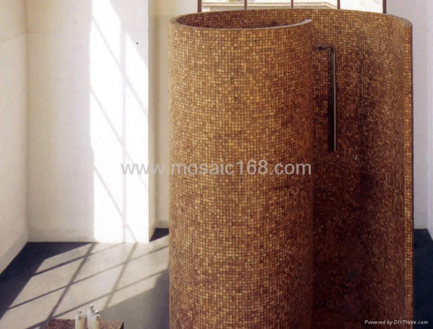 Coconut mosaic column