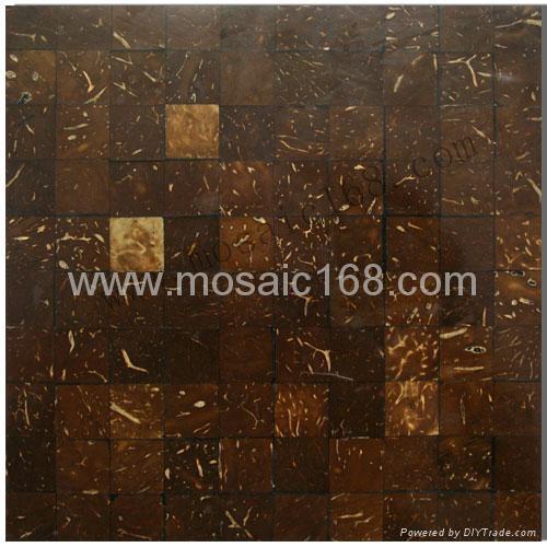白椰壳平面马赛克装饰板 2