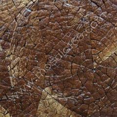 Coconut mosaic veneer table top
