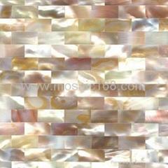 白色珍珠貝殼密拼馬賽克板