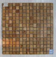 oak wood mosaic tile