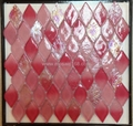 red color wall glass mosaic