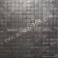 dyed black color coconut wood wall