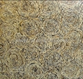 Coconut mosaic decoration wood panels