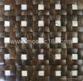 coconut & shell mixed mosaic panels