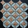 Ellipse glass mosaic tile flooring