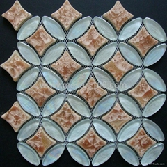 Ellipse glass mosaic til