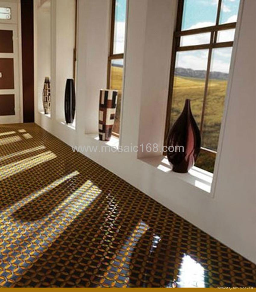 玻璃马赛克陶瓷花砖混拼地板砖 5