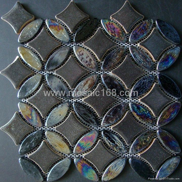 黑色窑变陶瓷马赛克混拼,黑色玻璃马赛克 1