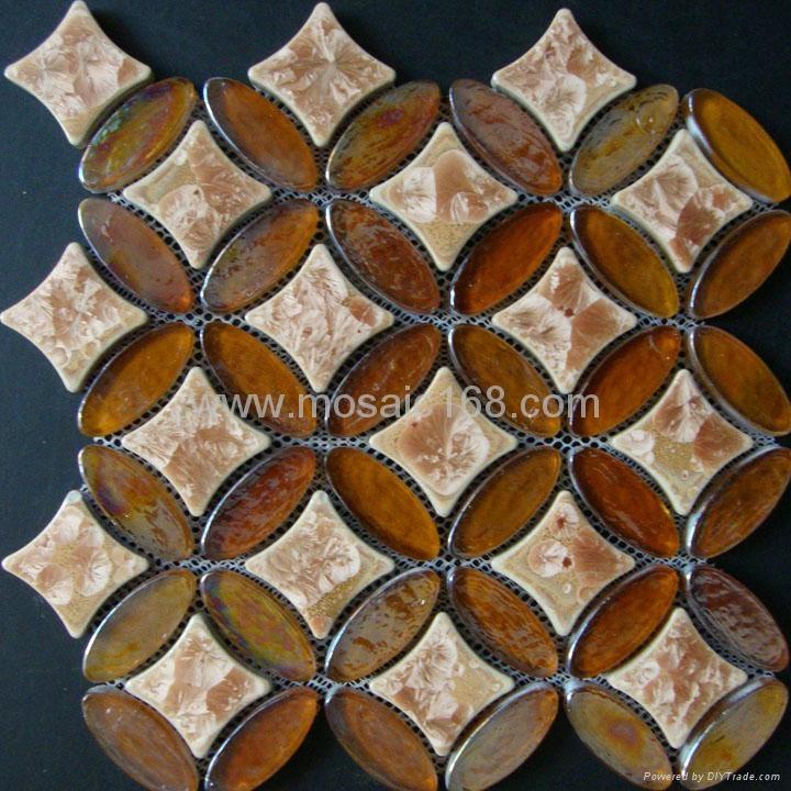 黑色窑变陶瓷马赛克混拼,黑色玻璃马赛克 2
