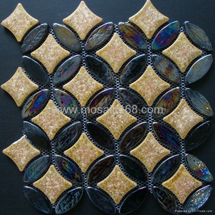 环保玻璃马赛克,玻璃陶瓷混拼 1