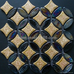 环保玻璃马赛克,玻璃陶瓷混拼
