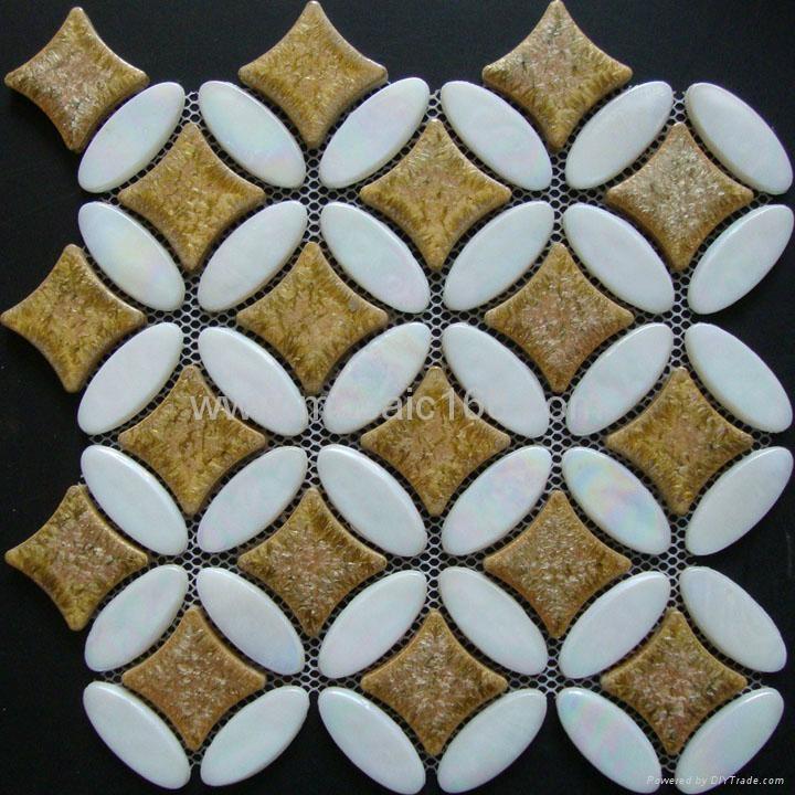 环保玻璃马赛克,玻璃陶瓷混拼 2