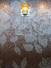 Shell mosaic tile pearl