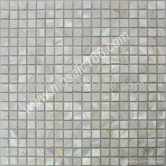 white color Shell mosaic for wall