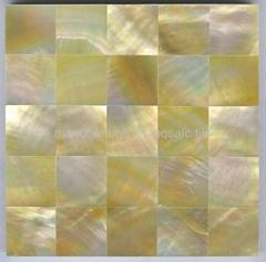 黃珍珠母貝裝飾板背景牆