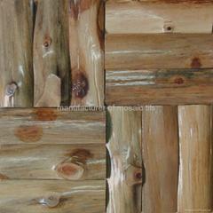 varnish surface wood mosaic wall panels