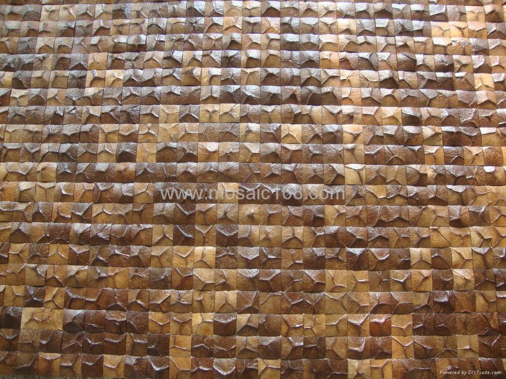 椰壳马赛克,椰壳板,装饰板,饰面板  1